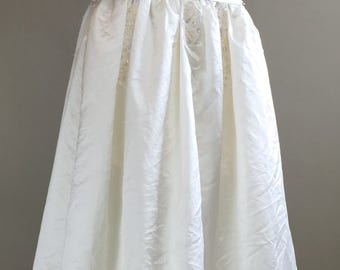 Vintage 1980s Satin Romantic Wedding Gown