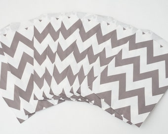 Chevron Favor Bags,  Goodie Bags,  Party Favor Bags, Gift Bags, Treat Bags, 12 Count