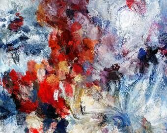 Red Abstract Art, Red Art Prints, Minimalist Art, Modern Abstract Prints, Canvas Print of a Red Abstract Painting, Modern & Minimal Wall Art
