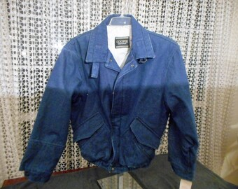 Rare  VINTAGE COOPER SPORTSWEAR Jean Jacket coat  size Large still with tags on it