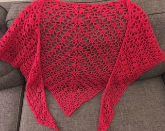 Crochet shawl, hand made crochet shawl
