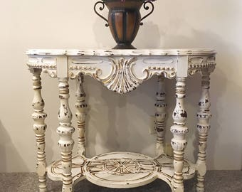 Distressed Accent Table