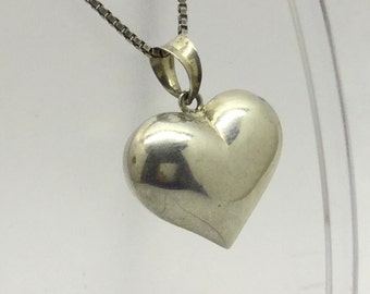 sterling silver heart pendant #24