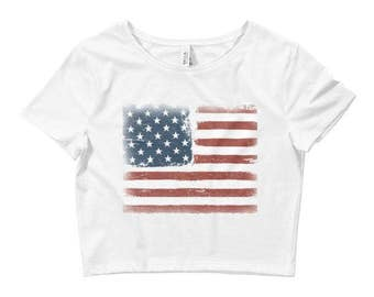 4th of July Crop Top // 4th of July Outfit // 4th of July Shirts // Fourth of July Shirt // Patriotic Shirt // Red White & Blue Shirt