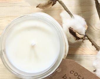 8 oz. Cotton Blossom Pure Soy Candle with Cotton Wick