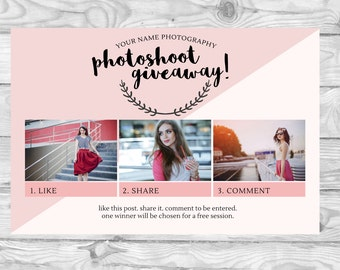 Like Comment & Share | Facebook Promotions for Photographers | Templates