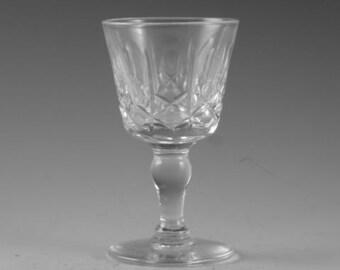 """Thomas WEBB Crystal - KINGSWINFORD Cut - Liqueur Glass / Glasses - 3"""""""