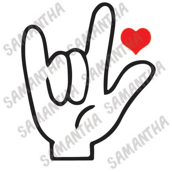 1243+ Sign Language I Love You Svg SVG File