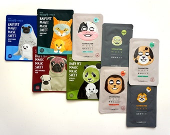 Korean Face Mask- 5 Character masks