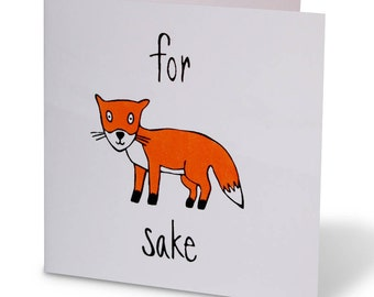 For Fox Sake Card