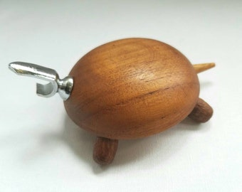 Vintage Denmark Mid Century Wood Turtle Bottle Opener