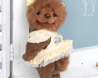 MELISSA, OOAK collectible teddy bear