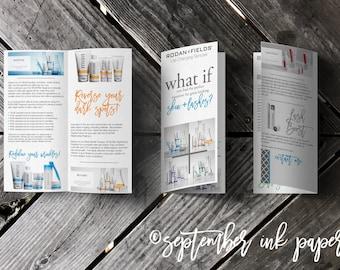 Rodan + Fields Regimen + Lash Boost Product Information Marketing Brochure