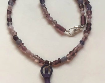 Goddess Necklace  (Purple)