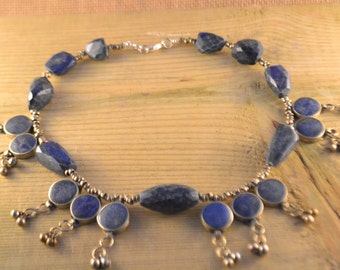 Vintage Lapis Lazuli Ethnic Middle Eastern Necklace