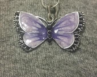 Pretty in Purple Butterfly Necklace
