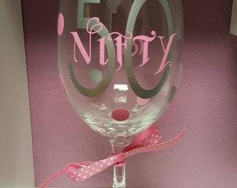Nifty 50 Wine Glass