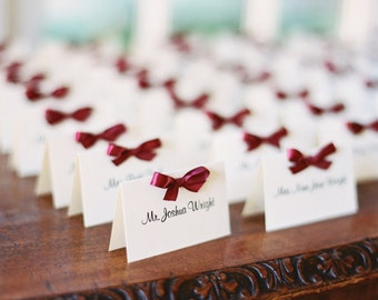Satin Bow Place Cards