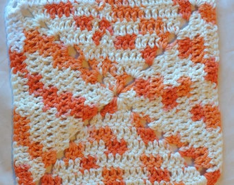 Crochet Washcloth - Poppy