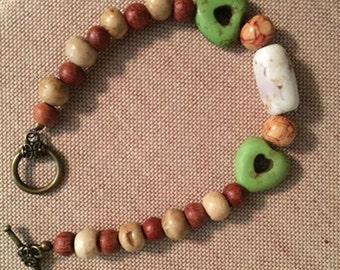 Love Natural Beaded Bracelet
