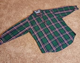 Vintage Chaps Ralph Lauren Plaid Long Sleeve Button Down Shirt