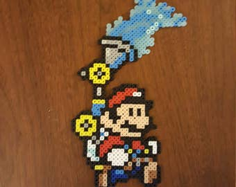 Super mario 3 and mario sunshine Mashup perler bead art