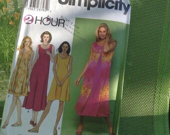 Simplicity pattern 9119 ,easy summerdress pattern ,dress pattern for beginners ,2 hours pattern ,xs,s,m,l,xl