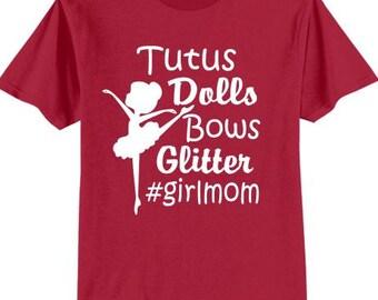 Girl Mom Tutus Glitter Bows Dolls