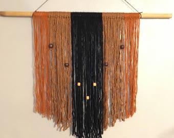 Neutral Boho Rod Wall Hanging