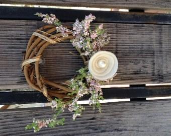 "4"" Baby White & Pink Wreath"