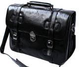 Genuine Leather Top Grain San Babila Italian Executive Briefcase Messenger Bag Laptop Bag UK RRP 260 Brand New
