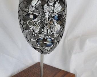 Original Metal Sculpture of a Woman's Head