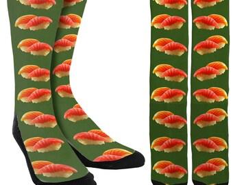 Sushi Socks - Mens Socks - Womens Socks - Crazy Socks -Mens Crazy Socks -Womens Crazy Socks -Unique Socks -Novelty Socks - FREE Shipping B28