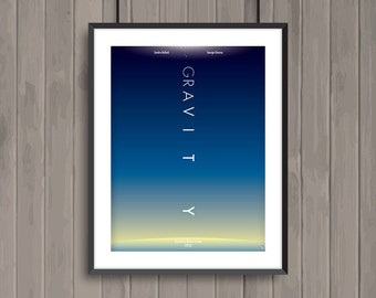 GRAVITY, minimalist movie poster