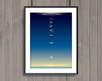 GRAVITY, minimalist movie poster