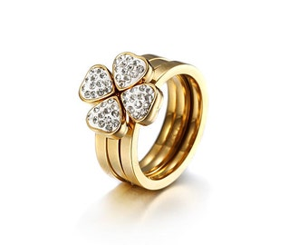 Four Leaf Clover - Wealth, Fame, Love and Health Ring