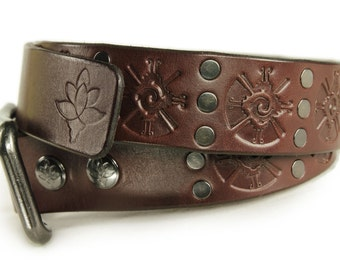 Premium Italian Leather Mens Belt - Hunab Ku