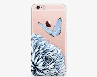 Flower Clear Case iPhone 7 Case iPhone 6 Case iPhone 6s Plus Case Butterfly Case to Samsung S6 Case to Samsung Note 5 Case iPod 6 Case c180