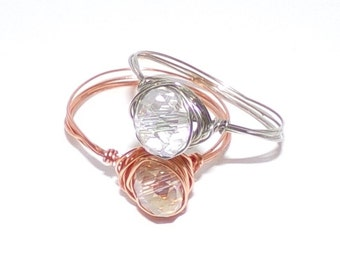 Wrapped Crystal Ring