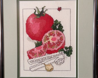 Tomatoes Framed Cross Stitch