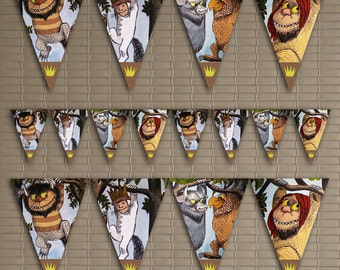 Where The Wild Things Are Birthday Banner, Where The Wild Things Are Decoration Banner, Where The Wild Things Are Themed Party Banner