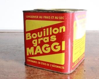 Maggi publicity tin 1950s collectable deco design vintage
