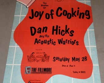 The Reunion of Joy of Cooking Dan Hicks and his Acoustic Warriors @ The Fillmore May 28, 1988