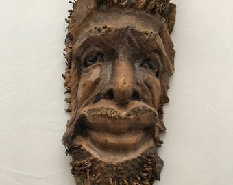 Bamboo Root Mask Hand crafted sculpture Bali unique traditional primitive mask