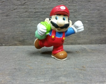 Vintage 1989 Mario from the Nintendo classic video game Mario bros. figurine pvc plastic figure Doll