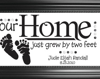 Our Home Just Grew By Two Feet *PERSONALIZED*