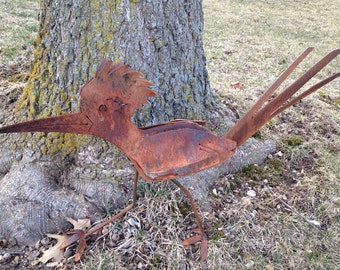 Custom Metal Road Runner Yard Art Sculpture Garden Decor Patio Outdoor Display