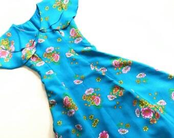VinTage DreSs size XS S CoaCheLLa hiPpie 70s ReTro dress 34/36 hipSter of 70s Elf