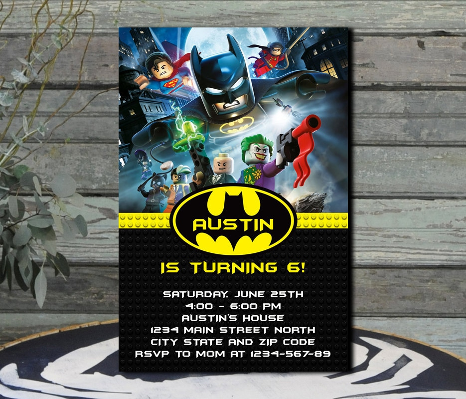 Batman Lego / Batman Lego Invitation / Batman Lego Birthday