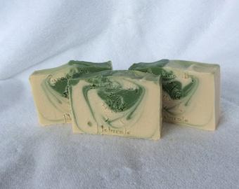 Basil, Sage & Mint Handmade Soap